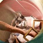 Lamineren, opspuiten en dichten: Nu zijn de putten gerenoveerd